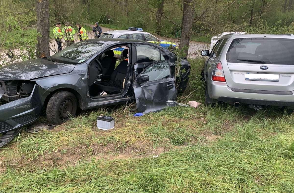 Schwerer Unfall auf der Landesstraße 1125 bei Sersheim. Foto: SDMG