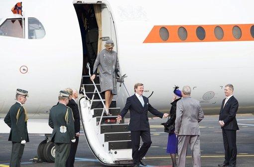 Herzlicher Empfang für Máxima und Willem-Alexander