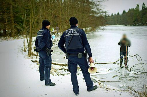 Irrläufer auf dem Eis