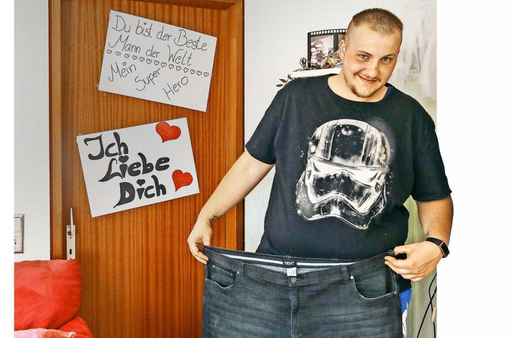 Diese Hose hat Fabian Pötzsch vor ein paar Wochen noch ausgefüllt. Foto: factum/Granville