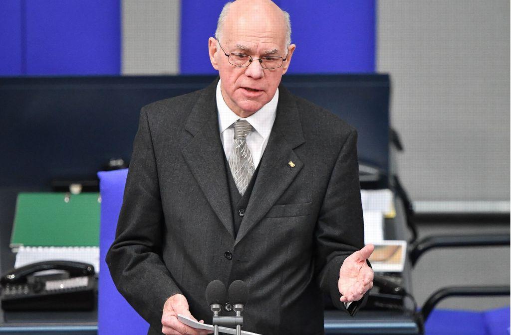 Bundestagspräsident Norbert Lammert nutzt die Wahl des Bundespräsidenten für eine starke Rede. Foto: dpa
