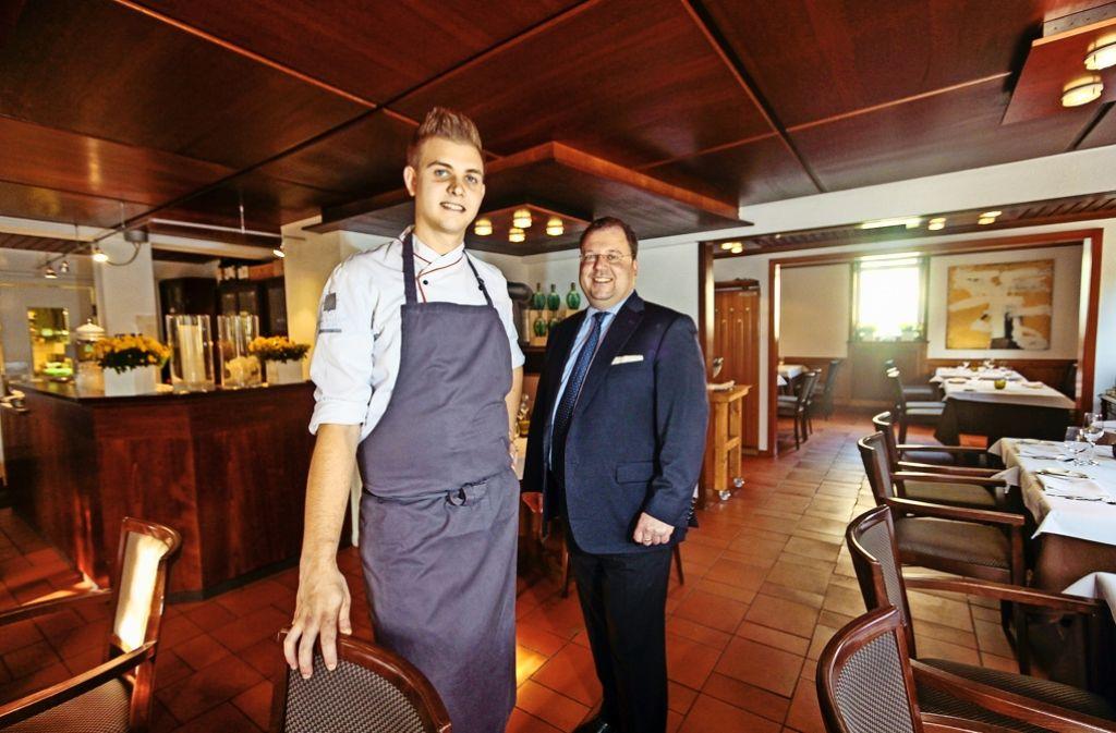 Küchenchef Erik Metzger (li.) und Restaurantleiter Matthias Gugeler Foto: factum/Granville