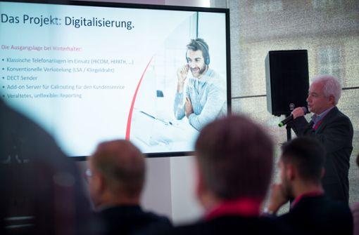 Digitale Spülmaschinen und die Technik dahinter gab es im Vortrag von Winterhalter und Swyx zu sehen