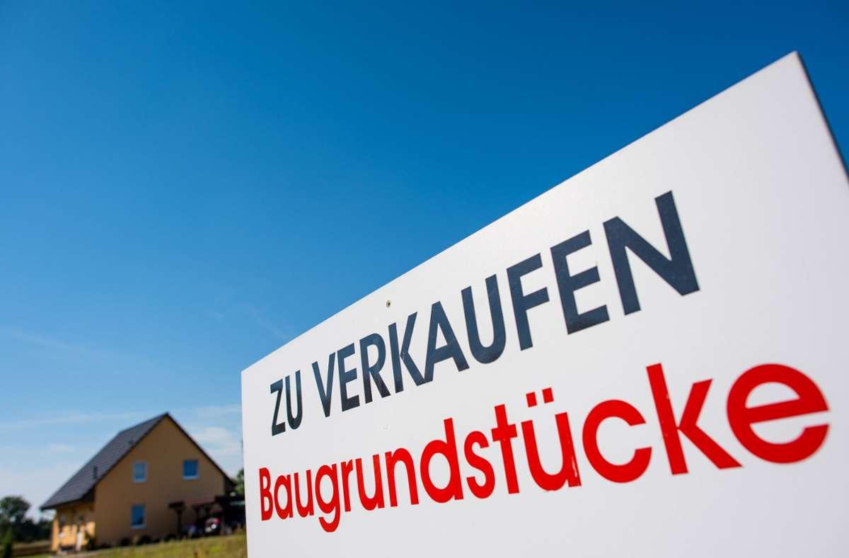 Bauland in Deutschland ist so teuer wie nie. Foto: dpa/Patrick Pleul
