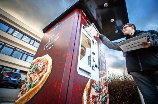 Dieser Automat backt in drei Minuten frische Pizza