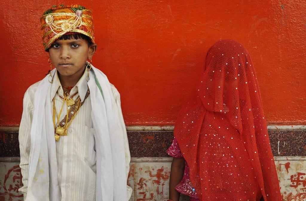 Eine Kinderhochzeit in Indien im Jahr 2010. Foto: AP
