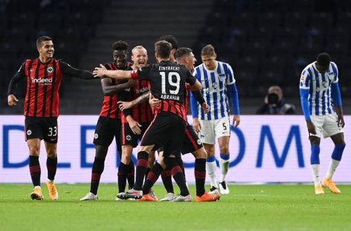 Frankfurt schockt Fan-Rückkehrer –  3:1-Sieg bei Hertha BSC