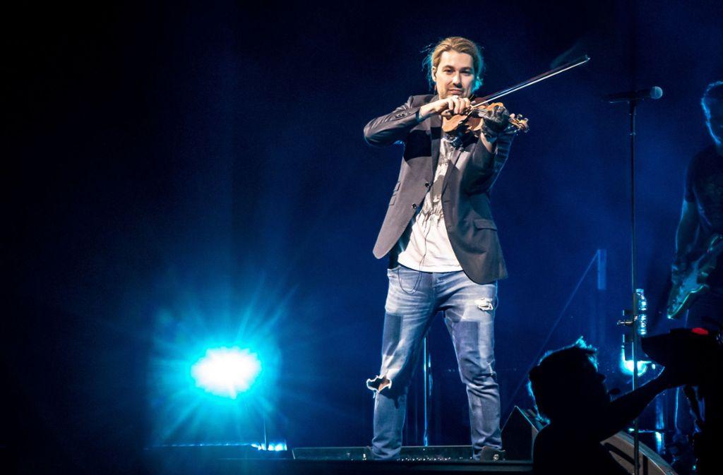 Star-Violinist David Garrett in der Hanns Foto: Lichtgut/Julian Rettig