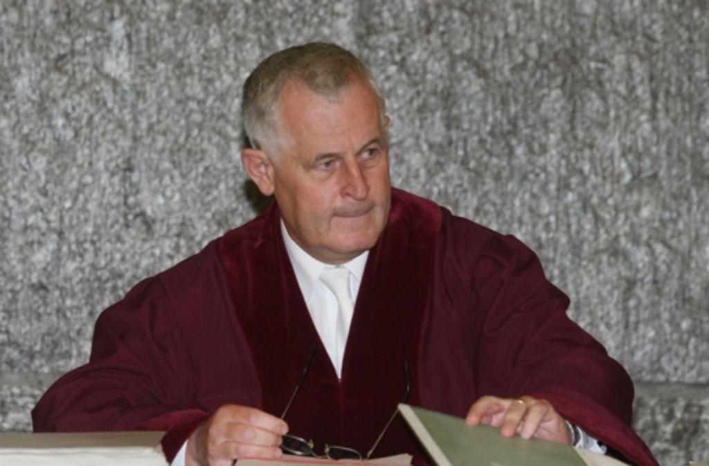 Klaus Tolksdorf, Präsident des Bundesgerichtshofs Foto: dpa