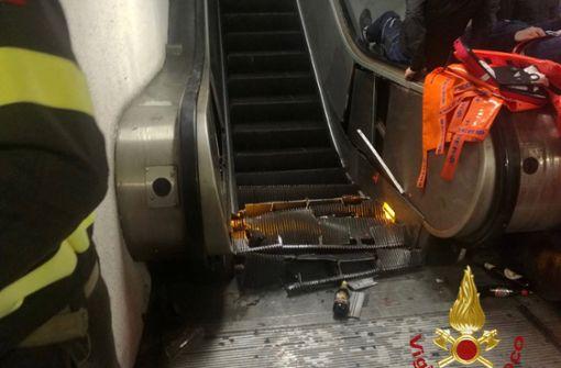 Verletzte in Rom bei Rolltreppen-Einsturz