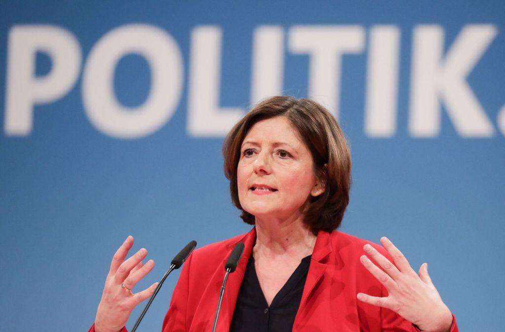 Politikerin mit beträchtlichem Einfluss in Berlin: Malu Dreyer auf einem Bundesparteitag der SPD Foto: dpa