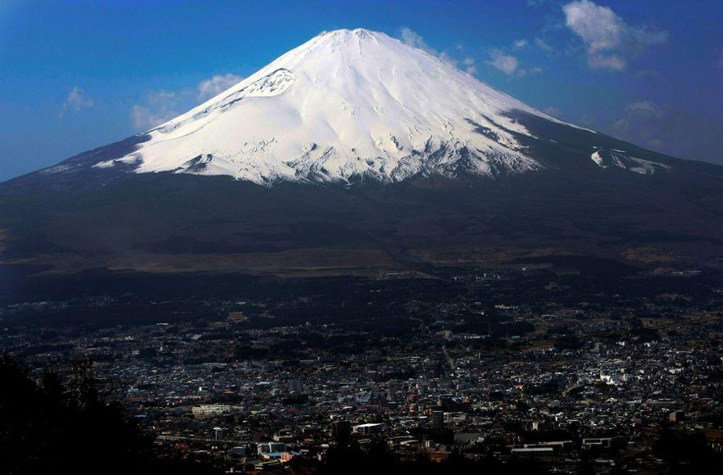 Das Unglück ereignete sich beim Besteigen des Fudschijamas. Foto: AP/Itsuo Inouye