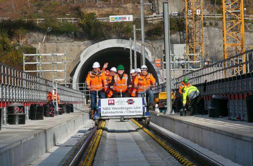 Schienen für Neubaustrecke nach Ulm fertig