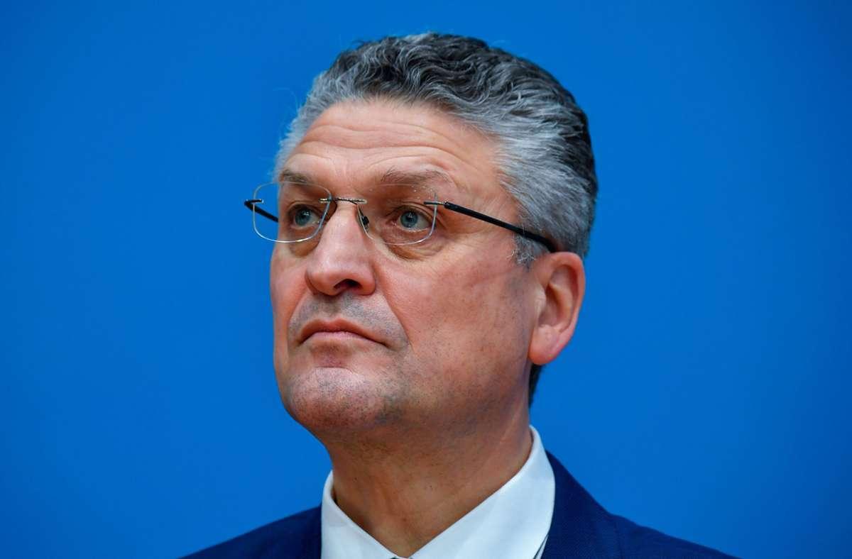 Das Infektionsgeschehen in Deutschland wurde abgebremst, berichtet RKI-Präsident Lothar Wieler. (Archivbild) Foto: dpa/Tobias Schwarz