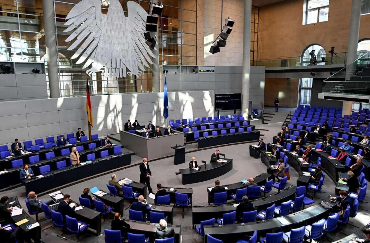 Der Bundestag in Berlin. Foto: dpa/Britta Pedersen