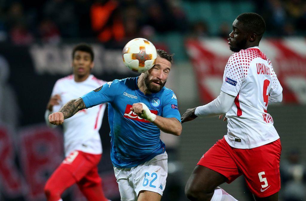RB Leipzig hat gegen SSC Neapel eine Niederlage einstecken müssen. Foto: Bongarts