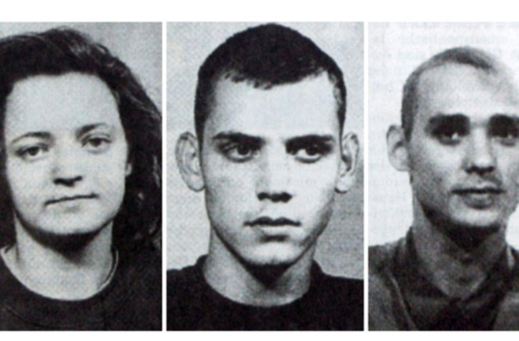 Hatten Beate Zschäpe, Uwe Böhnhardt und Uwe Mundlos beim spektakulären Ende des  NSU-Terror-Trios Mittäter?  Zwei Untersuchungsausschüsse haben das  nicht geklärt. Foto: dpa