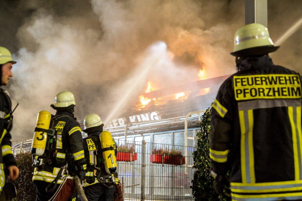 In Pforzheim hat ein Feuer ein Burger-King-Restaurant zerstört. Foto: www.7aktuell.de | Simon Adomat