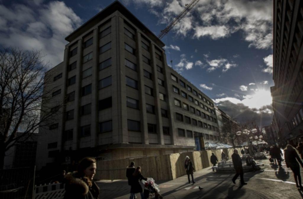 Der Umbau der früheren Karstadt-Filiale ist in vollem Gang. Foto: Lichtgut/Leif Piechowski