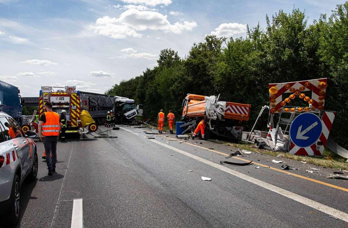 Der Lkw-Fahrer wurde leicht verletzt. Foto: 7aktuell.de/ JB/7aktuell.de | JB