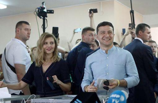 Präsidentenpartei gewinnt Parlamentswahl in der Ukraine