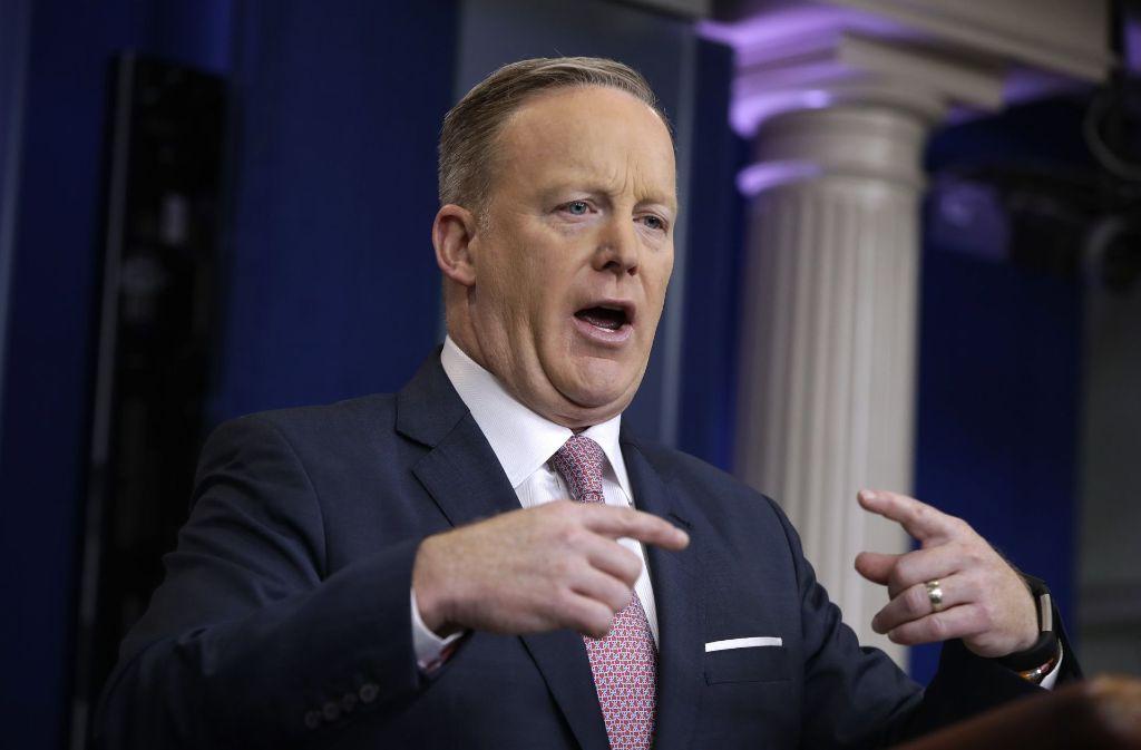 Sean Spicer fühlt sich der Wahrheit verpflichtet. Foto: AP