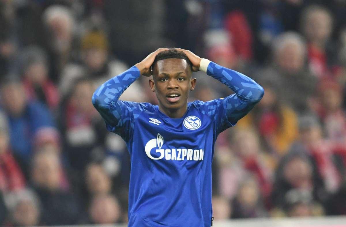 Ärger für Rabbi Matondo beim FC Schalke 04. Foto: dpa/Tobias Hase