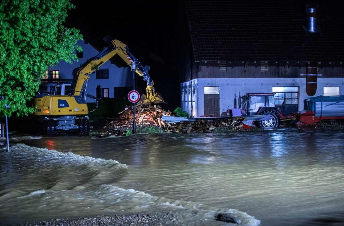Bei Überschwemmungen im Kreis Biberach ist ein Mann ums Leben gekommen. Foto: 7aktuell.de/Simon Adomat