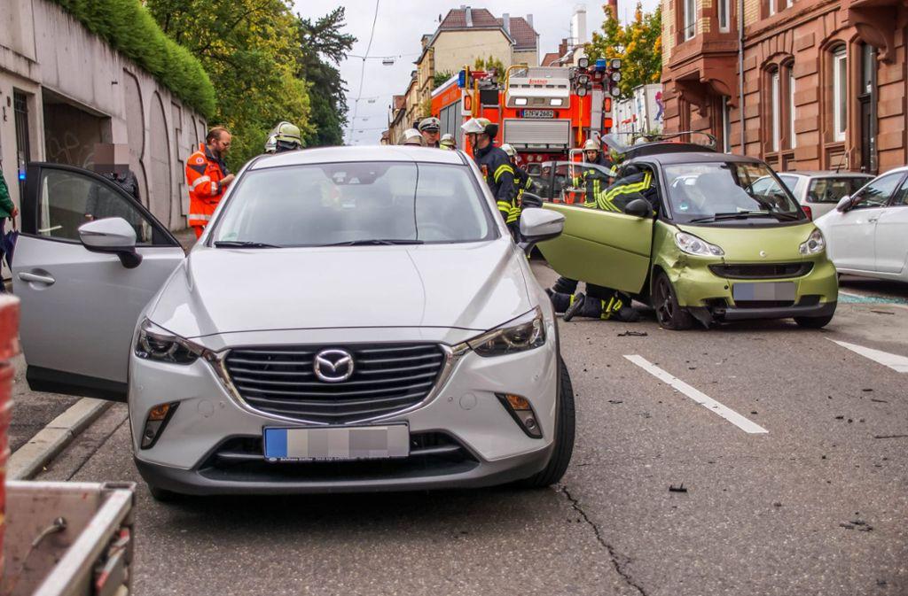 Nach dem Unfall ist die Böheimstraße gesperrt. Foto: 7aktuell.de/Andreas Werner