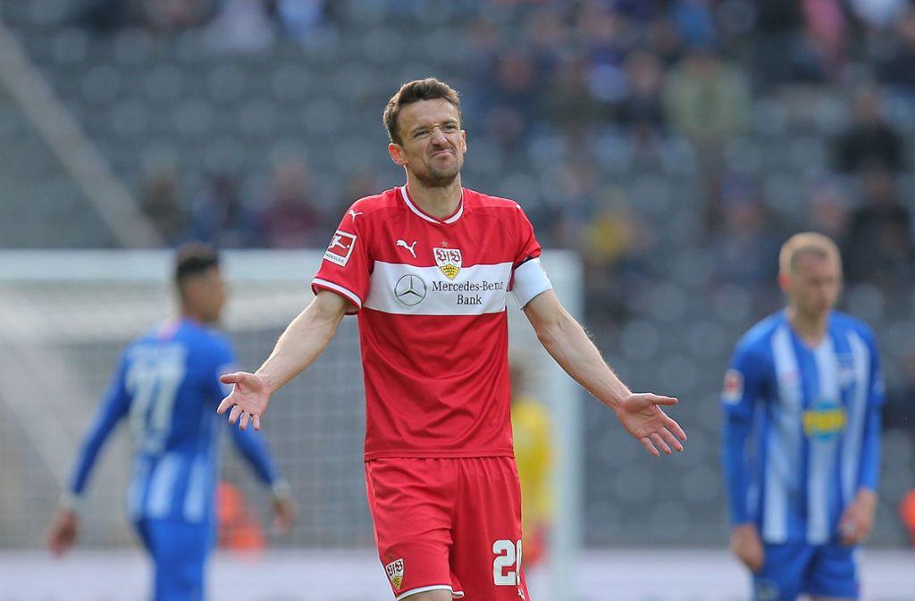 Auch die Rückkehr des Kapitäns Christian Gentner half dem VfB gegen Hertha nicht, einen weiteren Erfolg einzufahren. Foto: Pressefoto Baumann