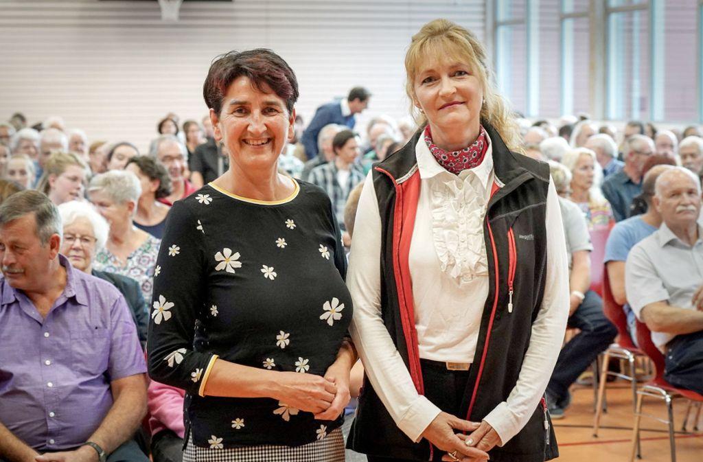 Irmtraud Wiedersatz (links) und ihre Herausfordererin Sonja Winter Foto: Edgar Layher