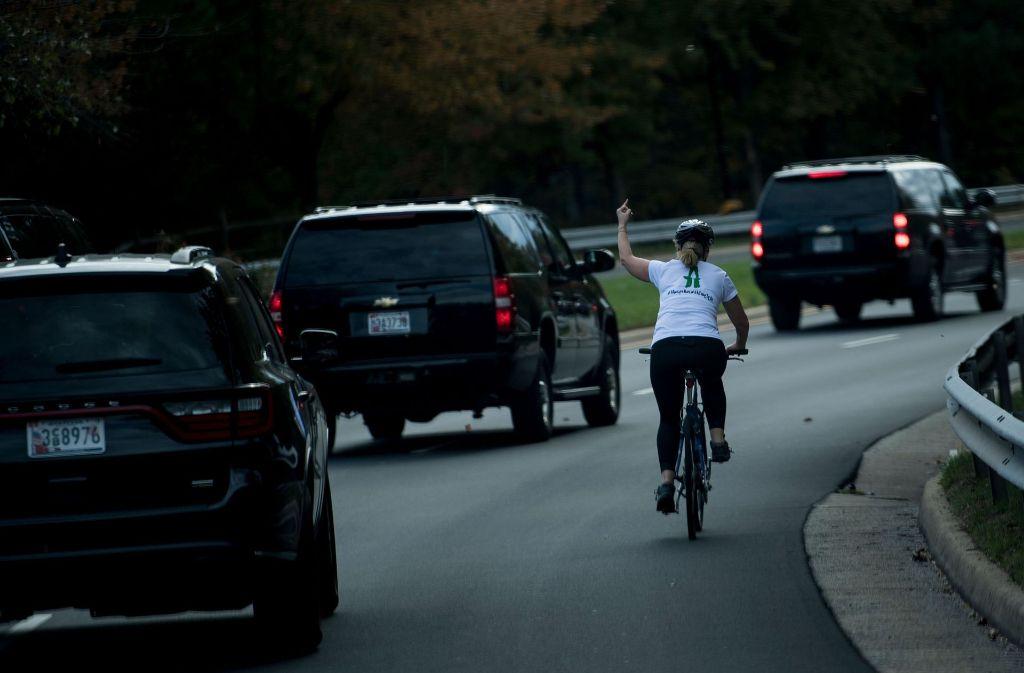Dieses Foto wurde Juli Briskman zum Verhängnis. Foto: AFP