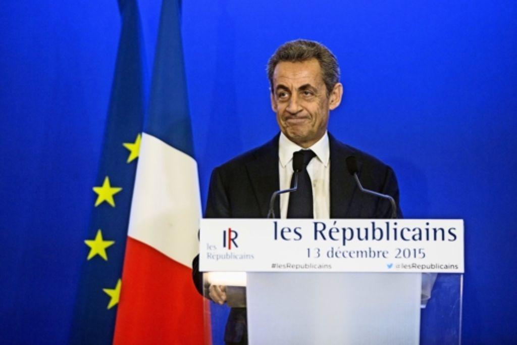 Sieger Dank fremder Mithilfe – der konservative Nicolas Sarkozy und seine Republikaner profitieren vom Verzicht einiger sozialistischer Kandidaten. Foto: dpa