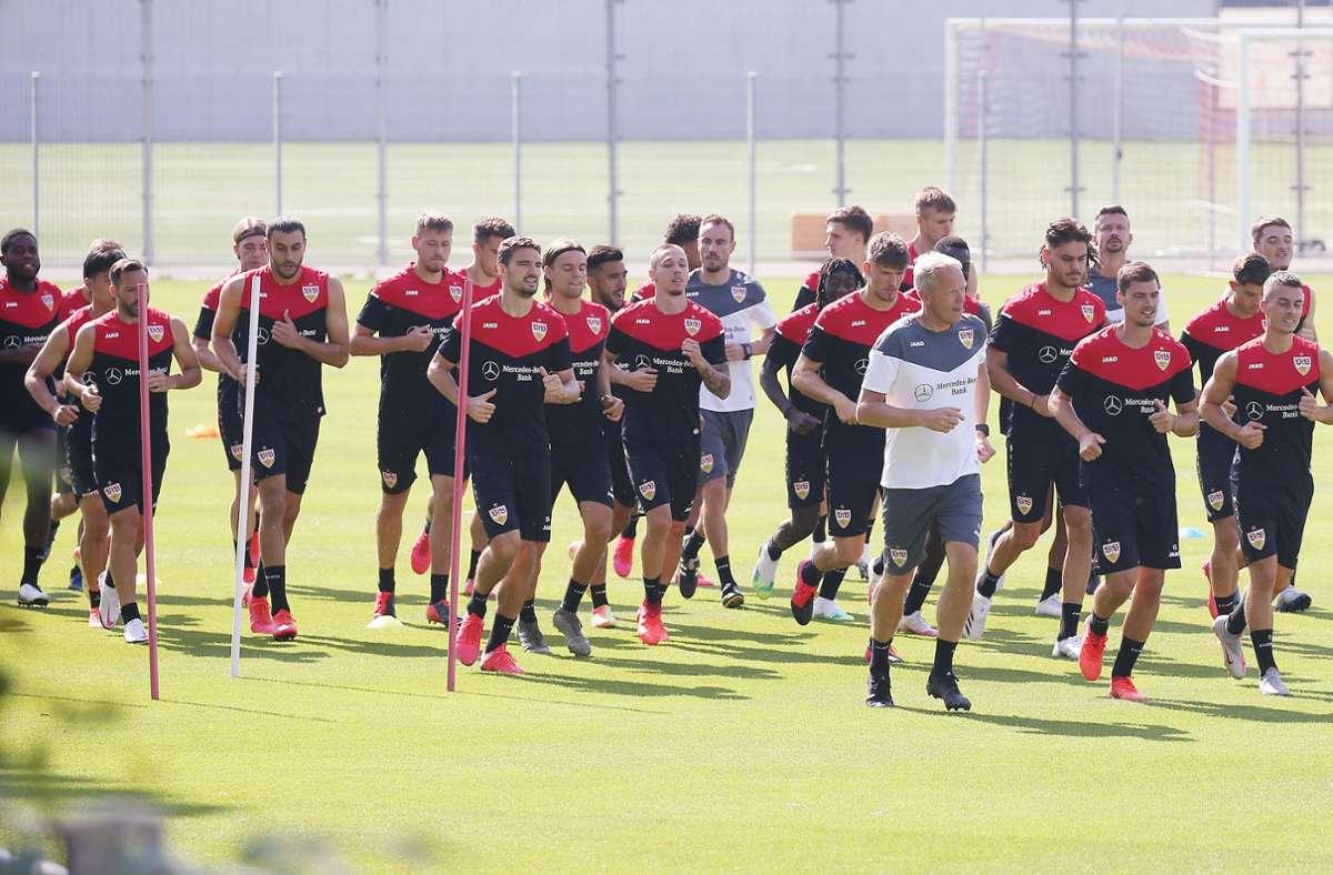 Der VfB trainiert aktuell am Vereinsgelände. Foto: Baumann