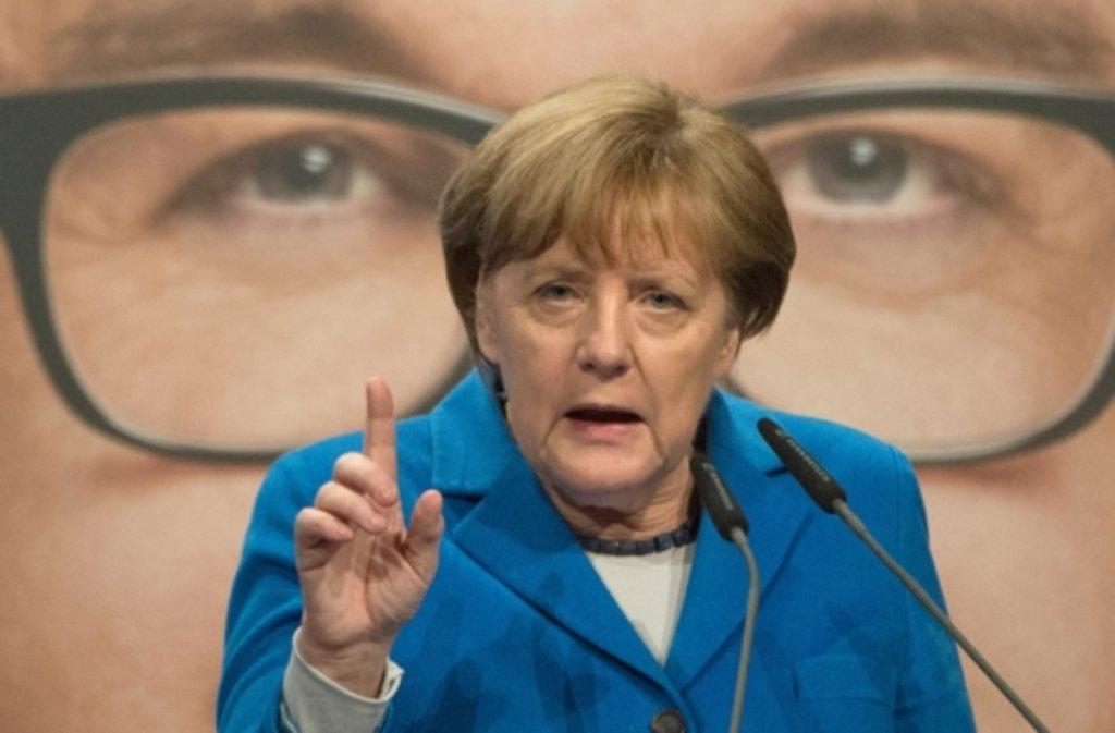 Bundeskanzlerin Angela Merkel war zu Besuch in Nürtingen. Foto: dpa