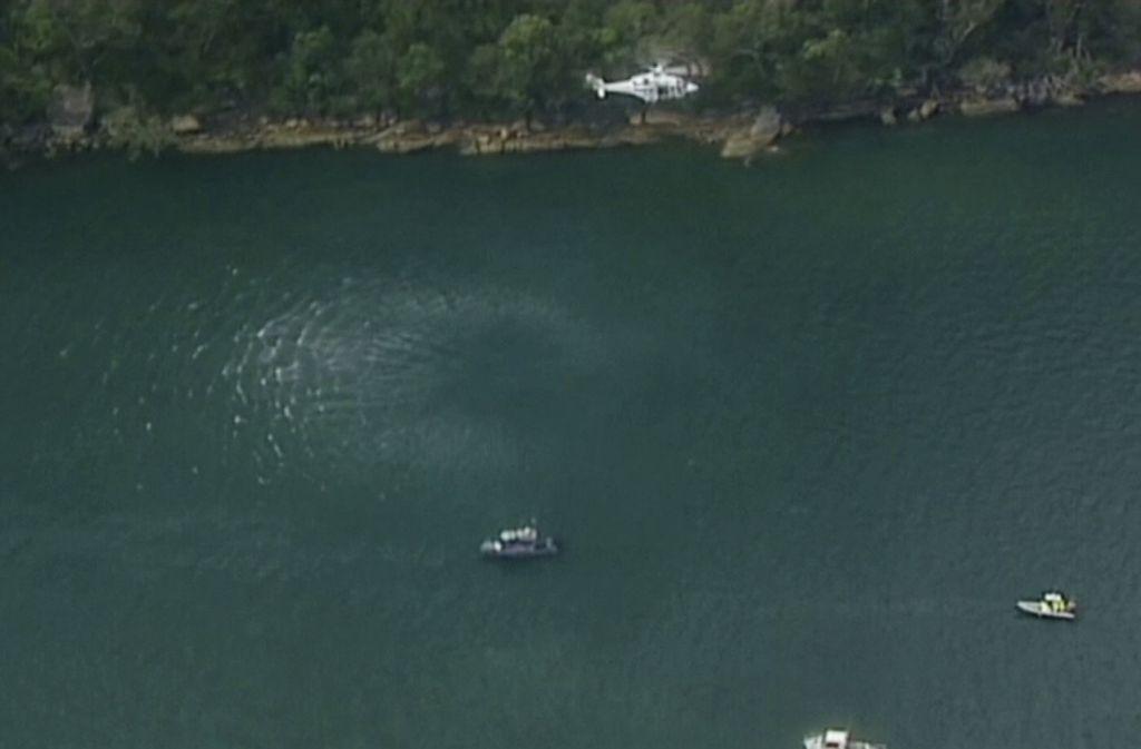 In Sydney ist ein Wasserflugzeug in den Hawkesbury-Fluss gestürzt. Foto: Australian Media Pool/AP