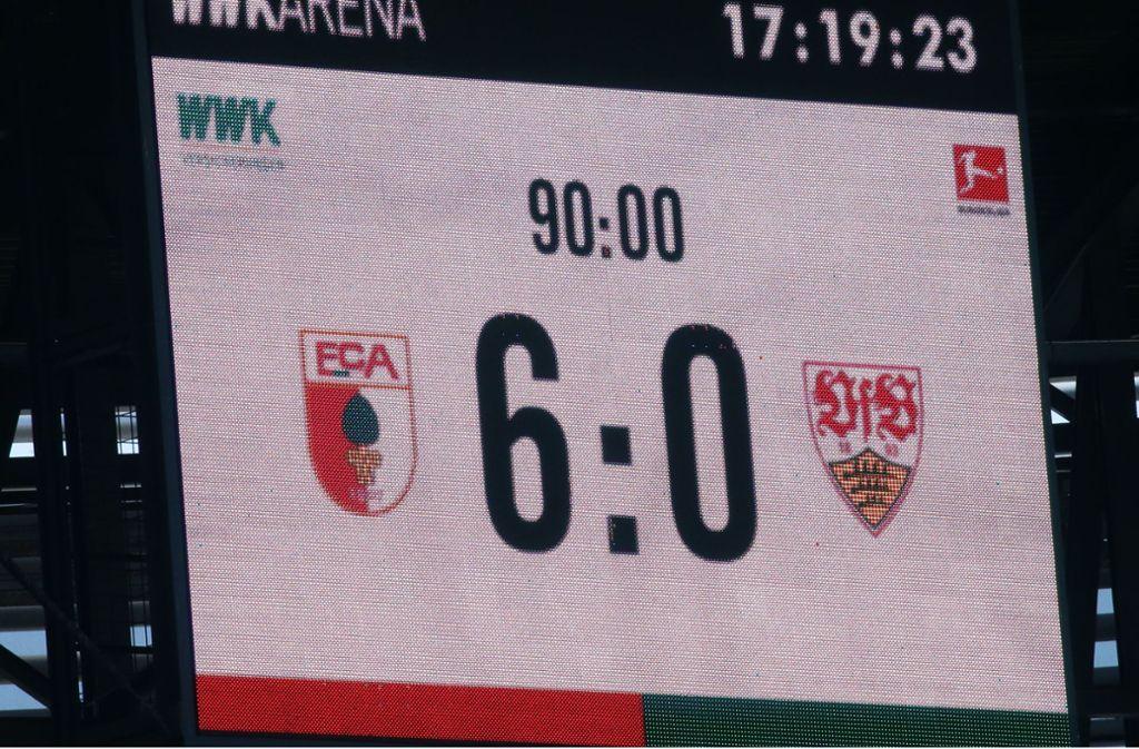 Das Endergebnis eines gebrauchten Tages für den VfB Stuttgart. Foto: Baumann