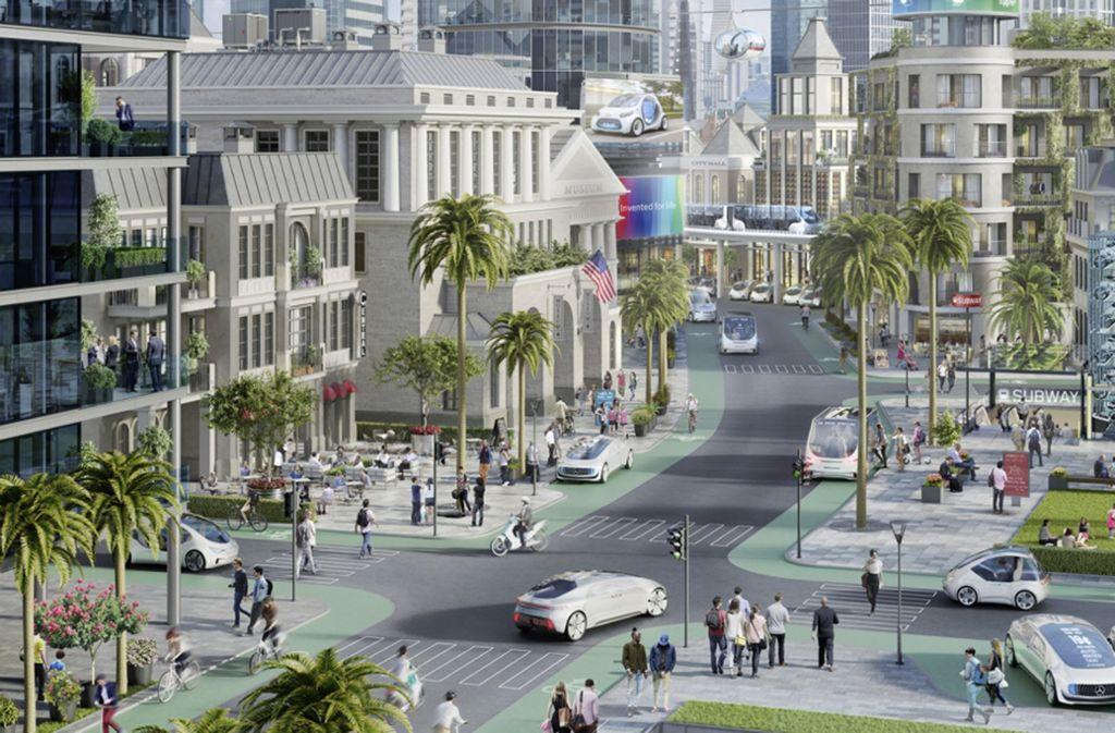 Die Stadt, in der der Shuttlebetriebmit autonom fahrenden Autos beginnt, steht noch nicht fest. Foto: Daimler
