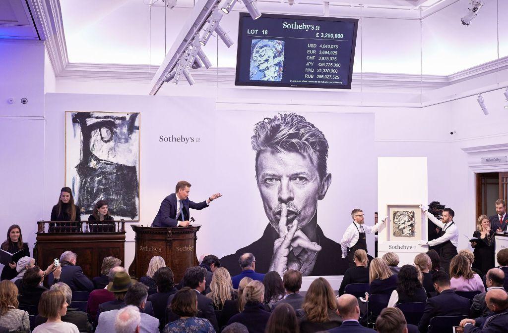 David Bowie war nicht nur ein brillanter Musiker, sondern auch ein Kunstsammler. Foto: Getty