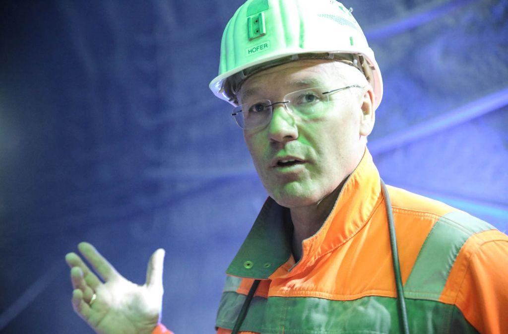 Georg Hofer ist Tunnelbauer – er arbeitet als Bauleiter für das Bahnprojekt Stuttgart-Ulm im Stuttgarter Untergrund. Foto: Siri Warrlich