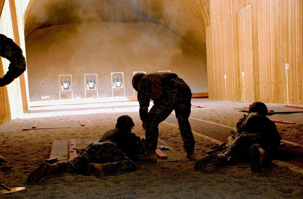 Im Böblinger Wald trainieren die US-Soldaten für ihre Einsätze im Nahen Osten. Foto: US-Army