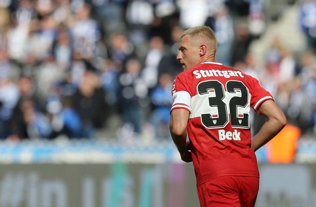 Für Andreas Beck vom VfB Stuttgart ist die Saison beendet. Foto: Bongarts/Getty Images