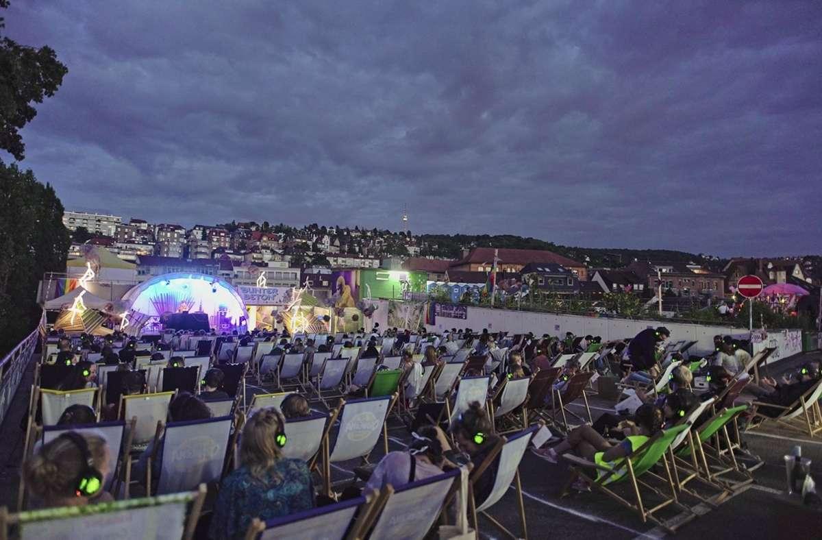 Im Liegestuhl unter freiem Himmel Musik genießen. Das Bunter-Beton-Festival beginnt an diesem Donnerstag. Foto: (cf)/Fotonoid
