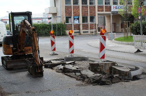 Stadt baut neue Verkehrsinsel