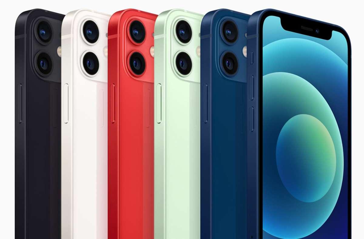 Der Preis von 800 Euro für das iPhone 12 Mini schreckt viele Apple-Fans offenbar ab – und lenkt den Blick auf ältere Modelle. Foto: dpa/Apple