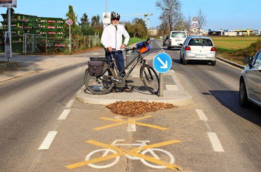 Warum die neue Radspur nicht benutzt werden darf