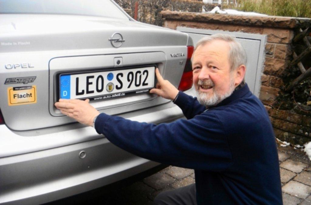 Seit es das alte Leo-Kennzeichen wieder gibt, haben viele umgemeldet. Foto: privat