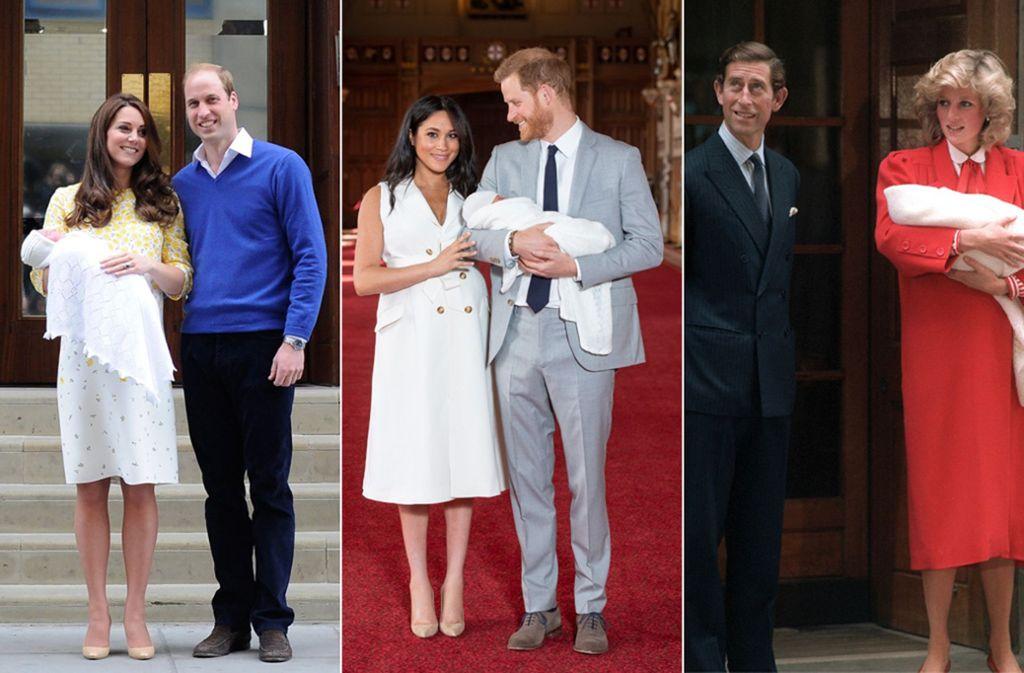 Drei royale Babys, aber die gleiche Decke: Die Windsors wickeln ihre Neugeborenen in Strick mit Tradition. Foto: dpa