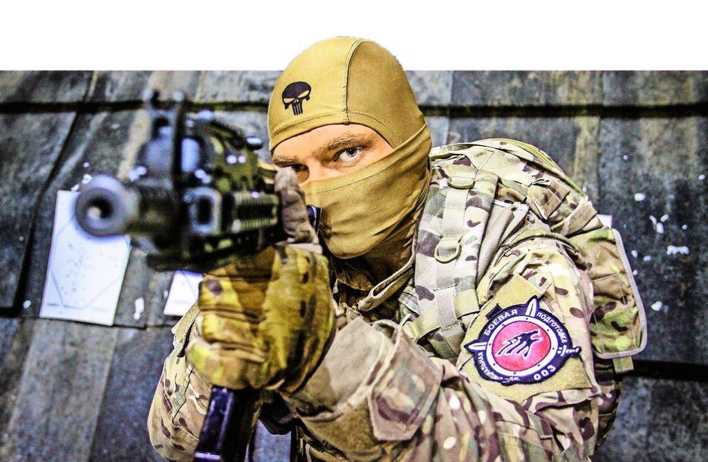 Gegen Propaganda wie diese wehrt sich die russische Gemeinde in Stuttgart Foto: Internetseite SSC Wolf