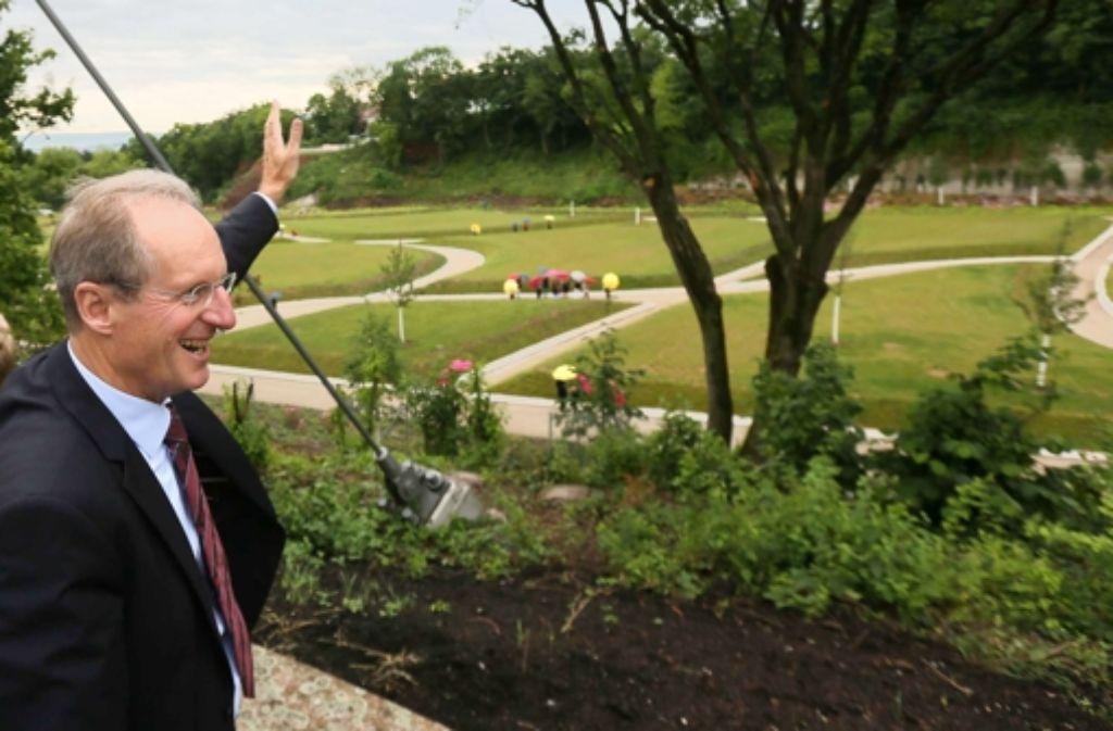 Der Park ist gewachsen, den Oberbürgermeister freut es. Foto: Achim Zweygarth